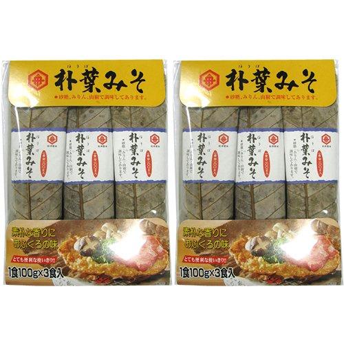 船津醤油 朴葉みそ (100g×3食)×2個