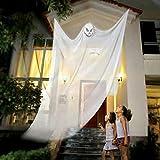 [ネッカー] ハロウィン 装飾 吊り下げ ハンギング ゴースト 幽霊 お化け カーテン (白)