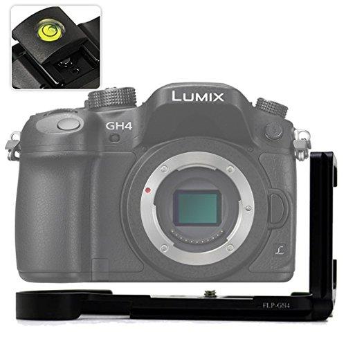 No1accessory LLX-GH4-01 ブラック 金属製 L型クイックリリースプレートブラケット ハンドグリップ Panasonic Lumix DMC-GH4 用 Arca-Swiss標準に対応+ レベル