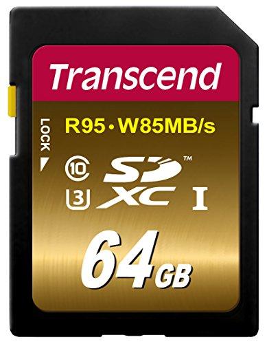 Transcend SDXCカード 64GB UHS-I U3対応 (最大読込速度95MB/s,最大書込速度85MB/s) U3Xシリーズ 4K動画撮影 無期限保証 TS64GSDU3X