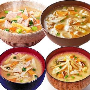 フリーズドライ 味噌汁 豚汁 いろいろ 4種類20食セット (アマノフーズ コスモス食品 他) (即席 とん汁 みそ汁)