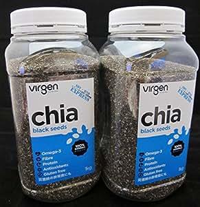 低糖質チアシード 2kg分セットオーストラリア産直輸入 残留農薬検査済 Chia Seeds from Australia: ドラッグストア