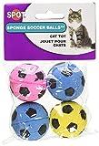 Ethical (エシカル) 猫用おもちゃ スポンジ サッカー ボール 4個入り [並行輸入品]