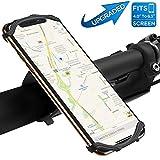 自転車ホルダー VUP スマホホルダー 超簡単に脱着 360度回転 4-6インチのスマホに対応 iPhoneX iPhone8、7、6Plus iPhone8、7、6 Android等全機種対応 脱落防止 メーカー直営店 3年間保証