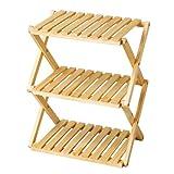 コーナン オリジナル コーナンラック 折り畳み式木製ラック W460(3段) ナチュラル 3段(約幅46X奥行30X高さ58cm)