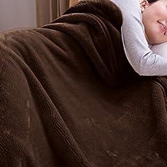 mofua ( モフア ) 毛布 カシミヤタッチ プレミアムマイクロファイバー シングル ブラウン 22030106