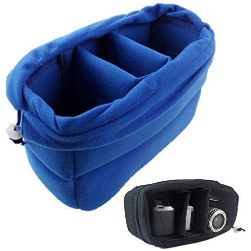 サイズが合えばどんな バッグ も カメラ バック に カメラ インナー ソフト クッション ボックス ブルー