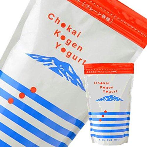 [2袋]鳥海高原プレーンヨーグルト (無糖)1kg