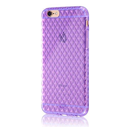 レイ・アウト iPhone6 ケース キラキラ・ソフトジャケット ラメバイオレット RT-P7C7/V