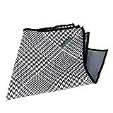 メガネ拭きポケットチーフ ブラックハウンドトゥース 1枚入