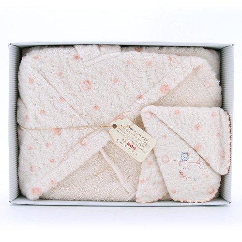 コンテックスのフード付きタオルを出産祝いにプレゼント