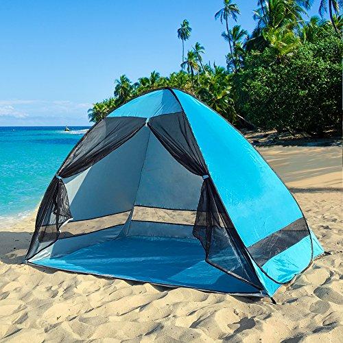 サンシェードテント ワンタッチ テント キャンプテント アウトドア 幅200 日よけ 3-4人用 UPF50+ uvカット メッシュ 防水 通気