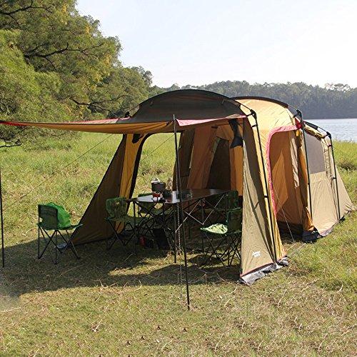 QFFL zhangpeng テントダブルレインシェルター1ベッドルーム1屋外テントウィルダネス5-8人キャンプBig Ten トンネルテント