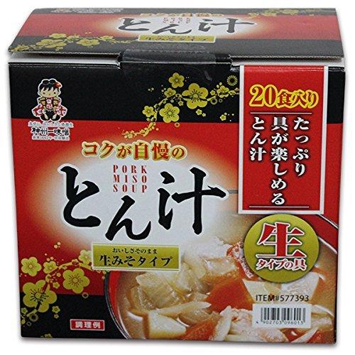 神州一味噌 とん汁 生みそタイプ 20食