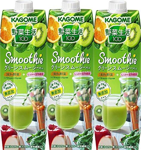 カゴメ 野菜生活100 Smoothie グリーンスムージーミックス 1000g×3本