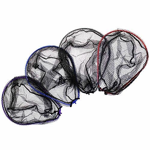 ランディングネットM 赤/青/黒/紫 オーバールフレーム (190151)|ブルー
