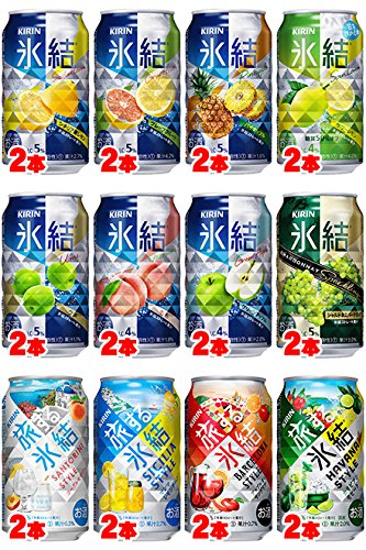 キリン 氷結バラエティ350ml×24本 (定番7種+Cha+旅する氷結4種)