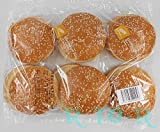 ビックバーガーバンズ 6個入り(ハンバーガー用パン) ごま付き BBQ・手作りバーガー・パーティに♪