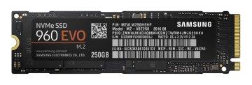 Samsung SSD 250GB 960 EVO M.2 Type2280 PCIe3.0×4 NVMe1.2 V-NAND搭載 3年保証 日本サムスン正規品(白箱) MZ-V6E250B/EC