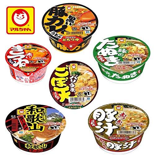 マルちゃん カップ麺 ミニ 6柄 各2個 12食セット 小腹対策に
