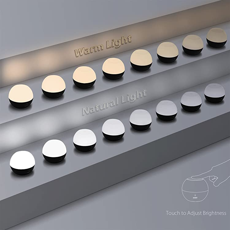 AUKEY ナイトライト ベイビーライト アウトドアライト ベッドサイドランプ バス用ライト 懐中電灯 USB充電式 タッチ式 子供安全素材 授乳用 携帯便利 マグネットと防水機能付き 照度調節&交替点灯 LT-ST23 (ホワイト)