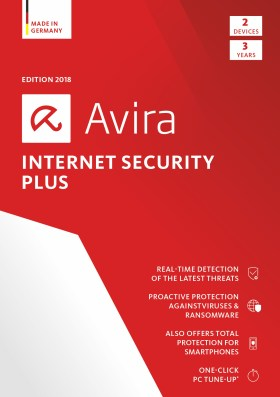 Avira Internet Security Plus 2018 | 2 Device | 3 Year | Download [Online Code]