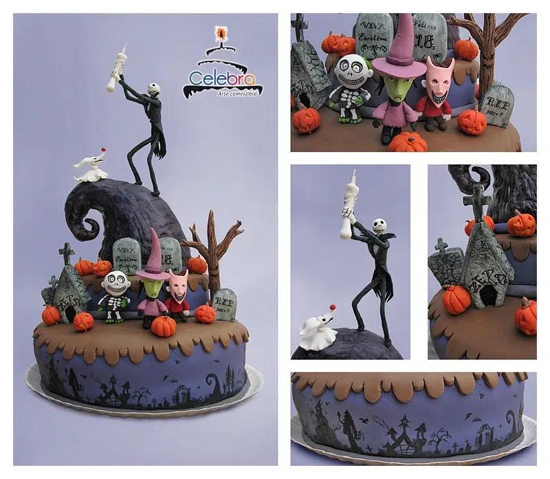 The Nightmare Before Christmas Birthday Cake