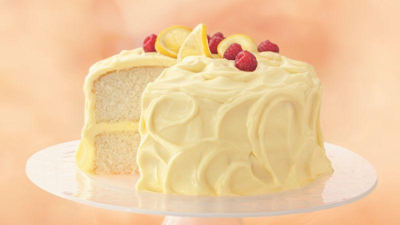 Lemon Cake With Whipping Cream Mousse Recipe Bettycrocker Com
