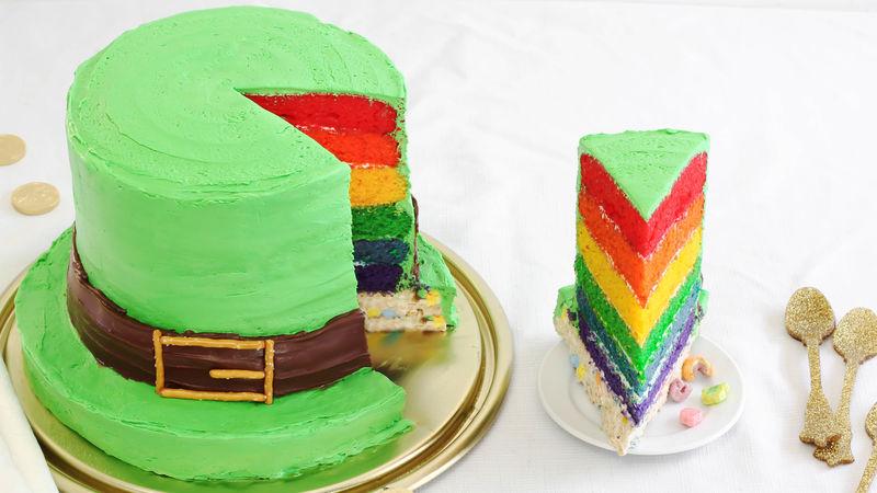Lucky Charms Leprechaun Hat Cake Recipe Bettycrocker Com