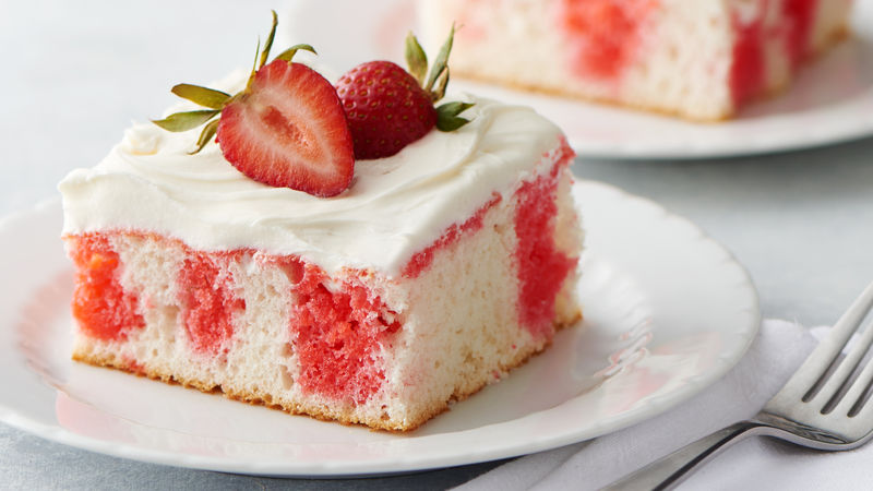 Strawberry Poke Cake Recipe Bettycrocker Com