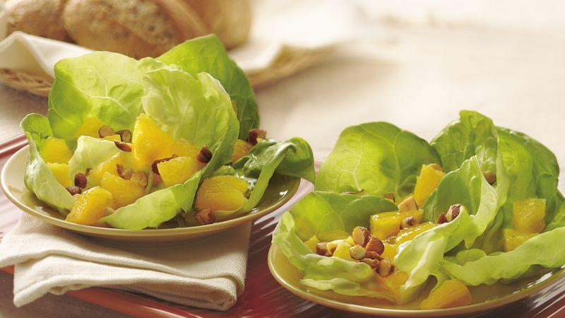 Orange Almond Salad In Lettuce Cups Recipe From Betty Crocker