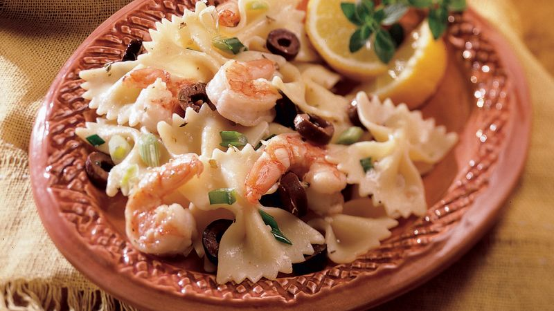 Mediterranean Shrimp And Bow Ties Recipe
