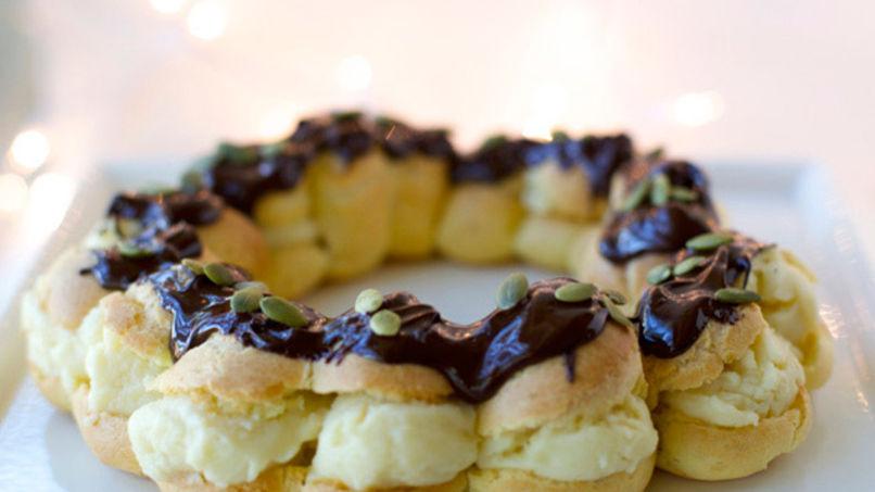 Receta de Rosca de Reyes de Profiteroles y Crema Pastelera   QueRicaVida.com