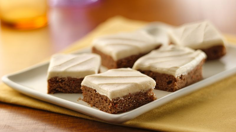 Carrot Cake Bars With Cinnamon Cream Cheese Frosting
