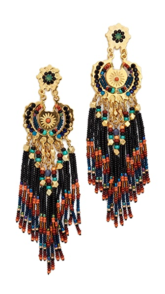 Gas Bijoux Apache Earrings - Black Multi