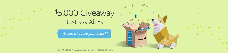 Alexa's $5,000 Giveaway
