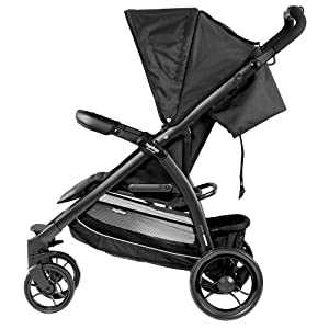 compact stroller, large basket, easy fold, travel system, primo viaggio