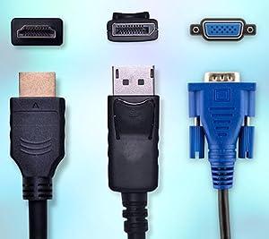 DisplayPort, HDMI & VGA Connectivity