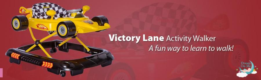 victory lane, dream on me, baby products, walkers, DOM Family, activity walkers