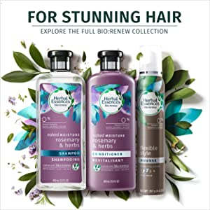 Herbal essences, shampoo, color-free, paraben-free, gluten-free, hydrating, frizzy hair, hydrating