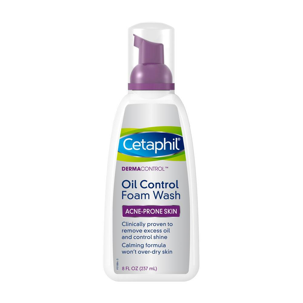 Cetaphil PRO DermaControl Oil Removing Foam Wash 8 oz – Packaging May Vary