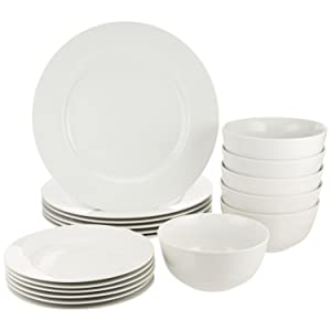 AmazonBasics 18-Piece Dinnerware Set