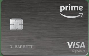 Amazon Prime Rewards Visa Card offers 5% cash back on Amazon purchases.