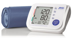 A&D Medical Premier Talking Blood Pressure Monitor with TriCheck and SmoothFit Cuff (UA-1030T) Product Shot