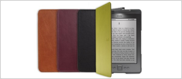 Amazon's official Kindle leather lighted cover
