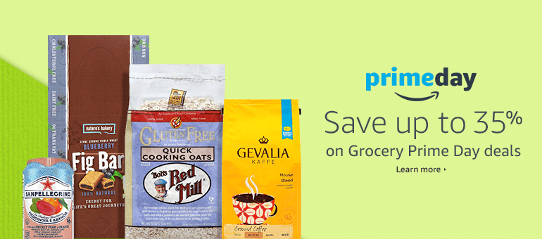 Save up to 35% on Grocery Prime Day deals
