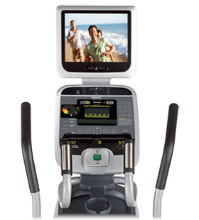 Close up of the Precor AMT100i with optional viewing screen