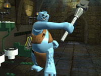A scary blue baddie in LEGO Harry Potter: Years 1-4