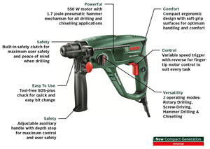 The PBH 2100 RE has a number of useful features.