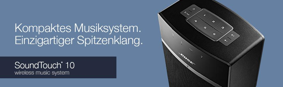 Kompaktes Musiksystem. Einzigartiger Spitzenklang - Bose SoundTouch 10